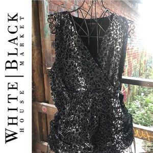 White House Black Market Cheetah top